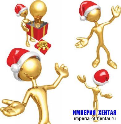 3D Санта Клаус